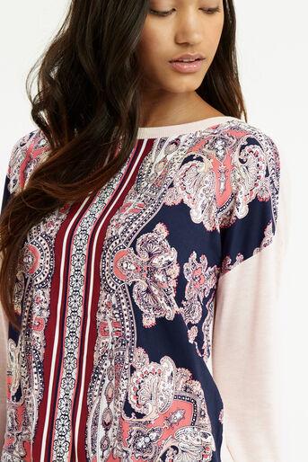 Oasis, Dakota Print Sweater Multi Natural 4
