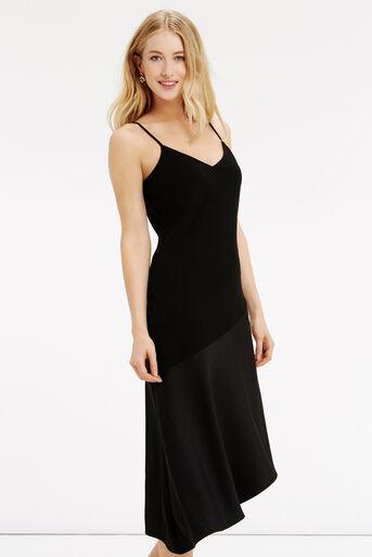 Oasis, Asymmetrical Midi Dress Black 1