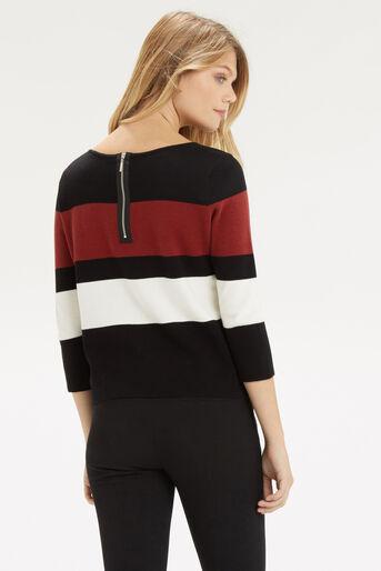 Oasis, Colour Block Crop Knit Multi 3