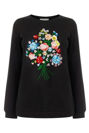 Oasis, Embellished Forget Me Not Swea Black 0