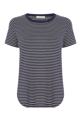 Oasis, SMALLER STRIPE PERFECT TEE Multi 0