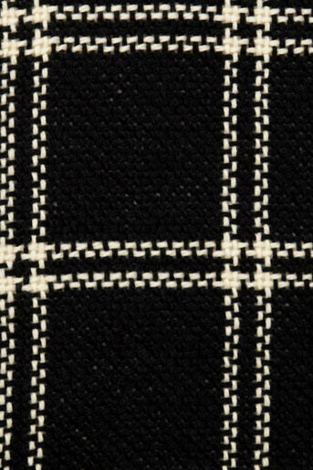 Oasis, STITCHED GRID CHECK SCARF Black and White 2