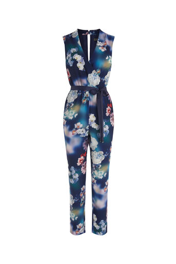 Oasis, PHOTOGRAPHIC JUMPSUIT Multi Blue 0