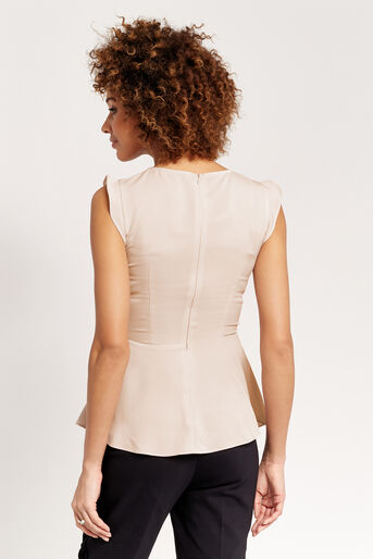 Oasis, PEPLUM TOP Off White 3