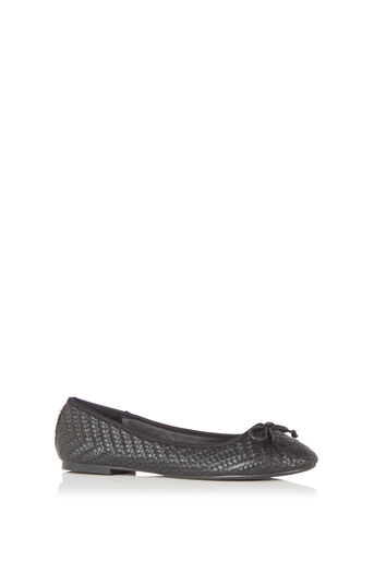 Oasis, Textured Ballerina Black 0