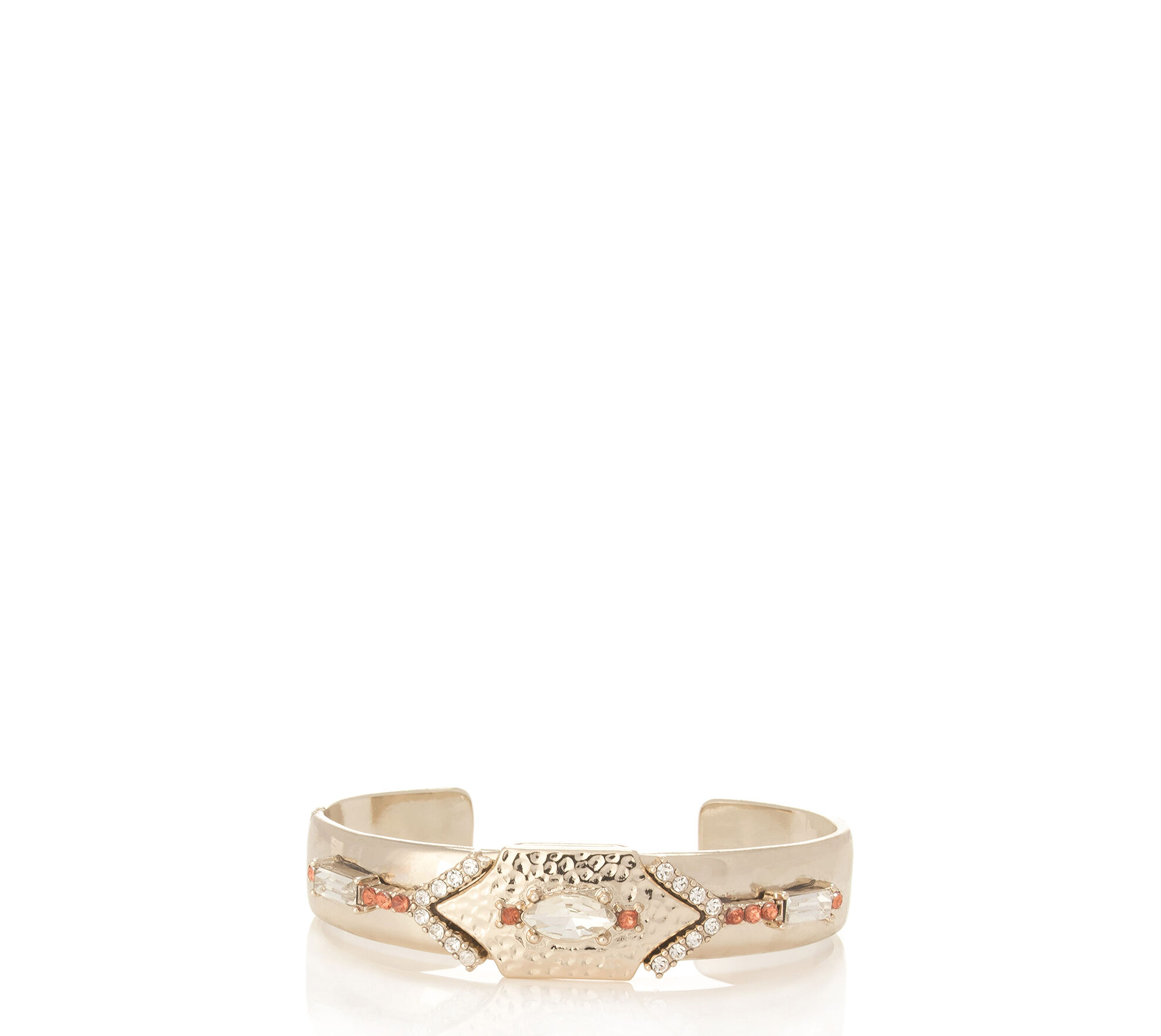 Oasis, Stone Encrusted Cuff Gold 0