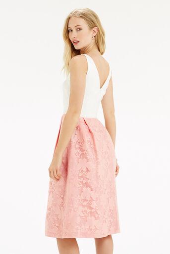 Oasis, Organza Midi Dress Multi Pink 3