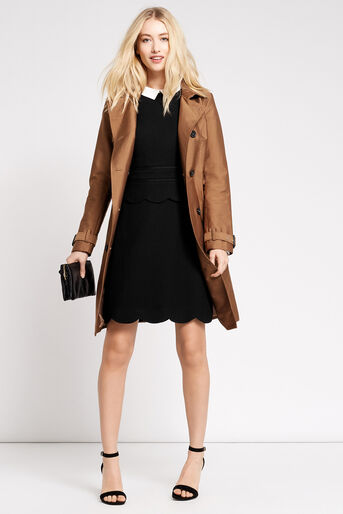 Oasis, SCALLOP SHIFT DRESS Black 2