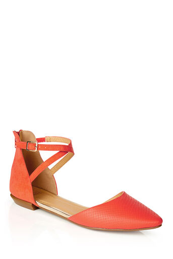 Oasis, PHOEBE FLATS Mid Orange 0