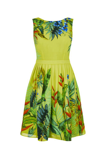 Oasis, TROPICAL PLACEMENT SUNDRESS Mid Yellow 0