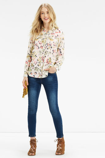 Oasis, Sofia Print Viscose Shirt Multi Natural 2