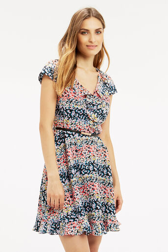Oasis, Ditsy Frill Dress Multi 1