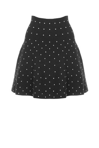 Oasis, Flippy spot skirt Multi Black 0