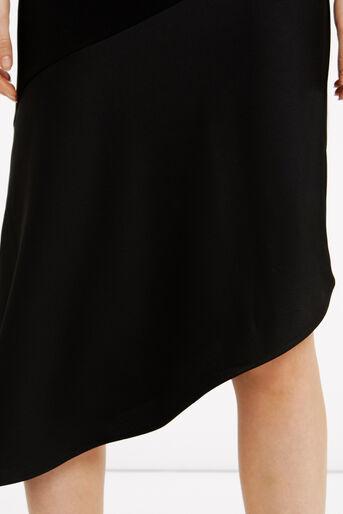 Oasis, Asymmetrical Midi Dress Black 4
