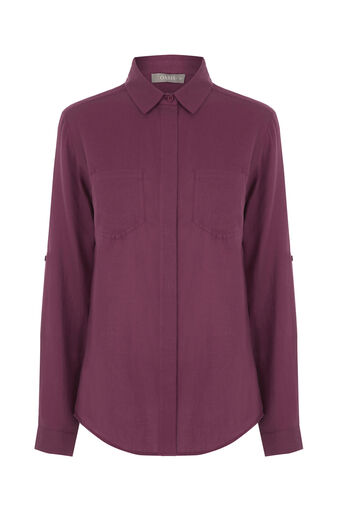 Oasis, SOFT COTTON SHIRT Berry 0