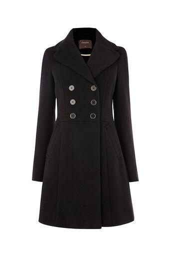 Oasis, MELISSA SKATER COAT Black 0