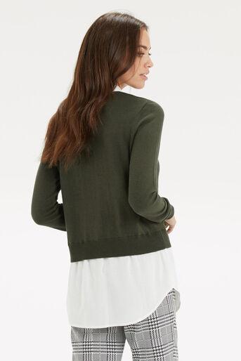 Oasis, Mono 2 in 1 Shirt Tails Khaki 3