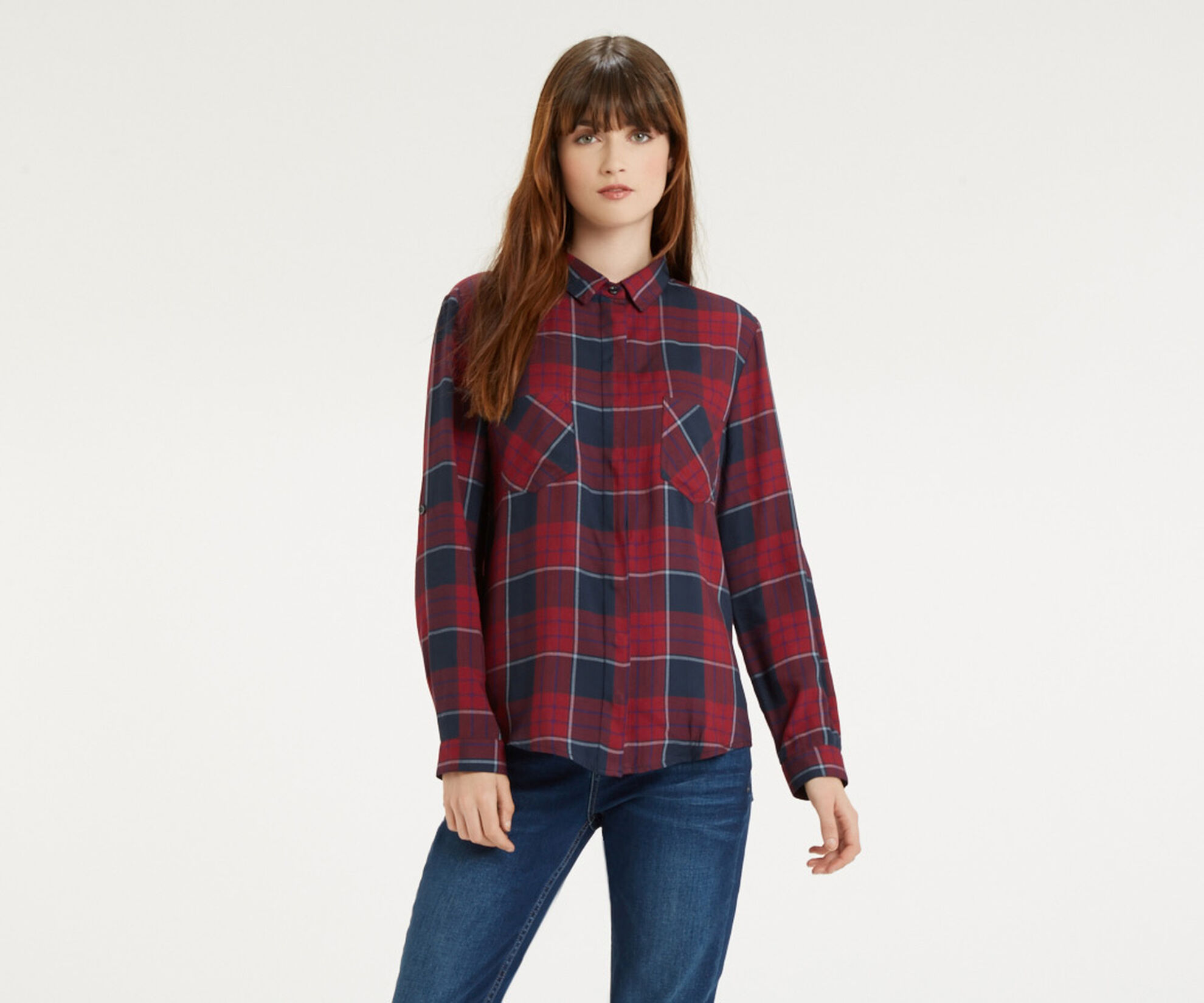 Oasis, Check Shirt Multi Red 1