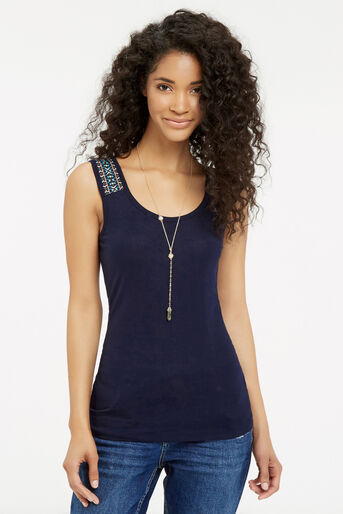 Oasis, Cancun Trim Vest Navy 1