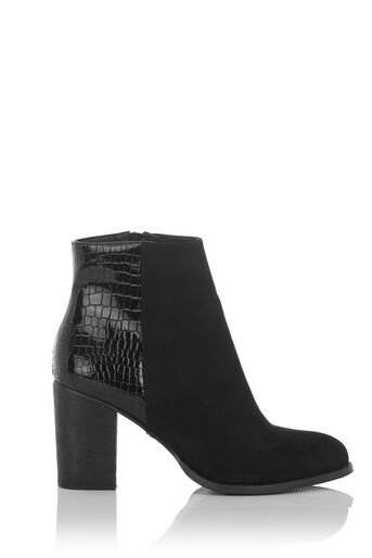 Oasis, MADDIE SNAKE PATCHED BOOT Black 1