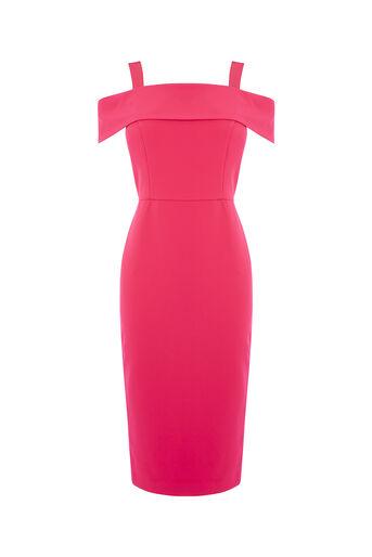 Oasis, BARDOT PENCIL DRESS Deep Pink 0