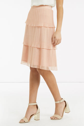 Oasis, Tiered Skirt Pale Pink 1