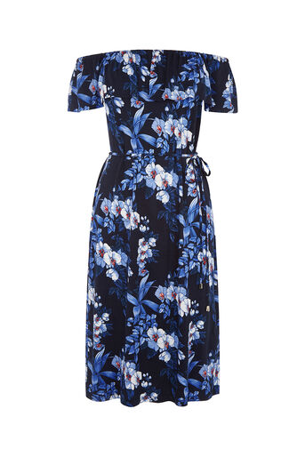 Oasis, tropical bardot dress Multi 0