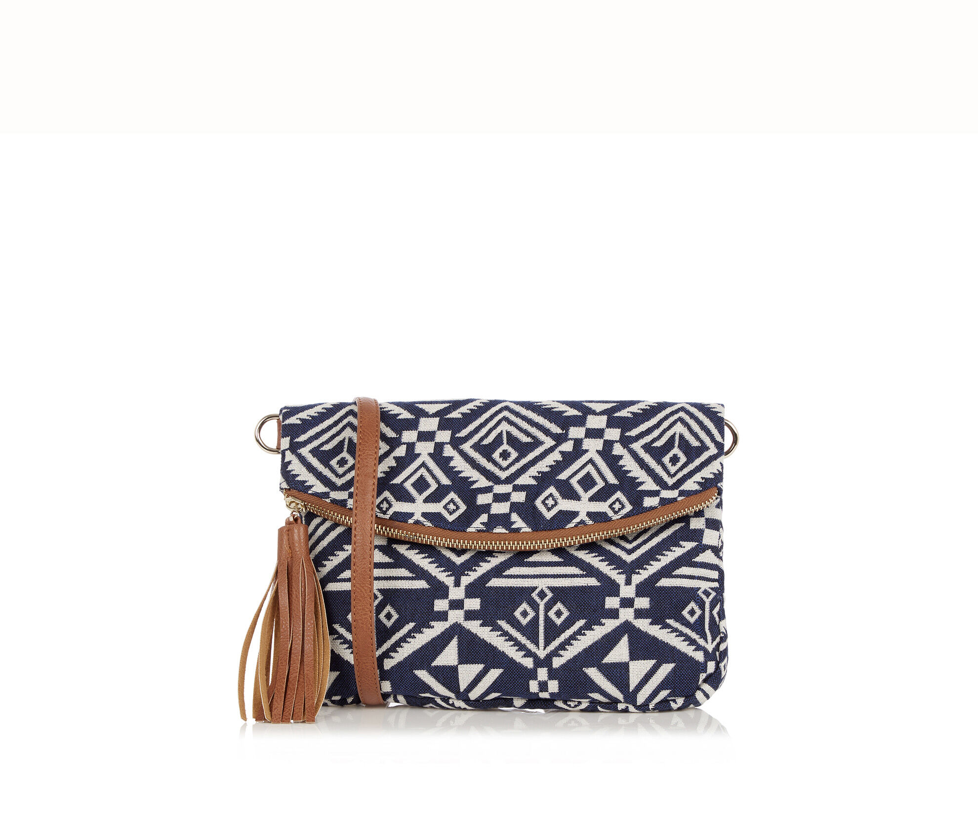 Oasis, Aztec Cross-Body Bag Multi Blue 0