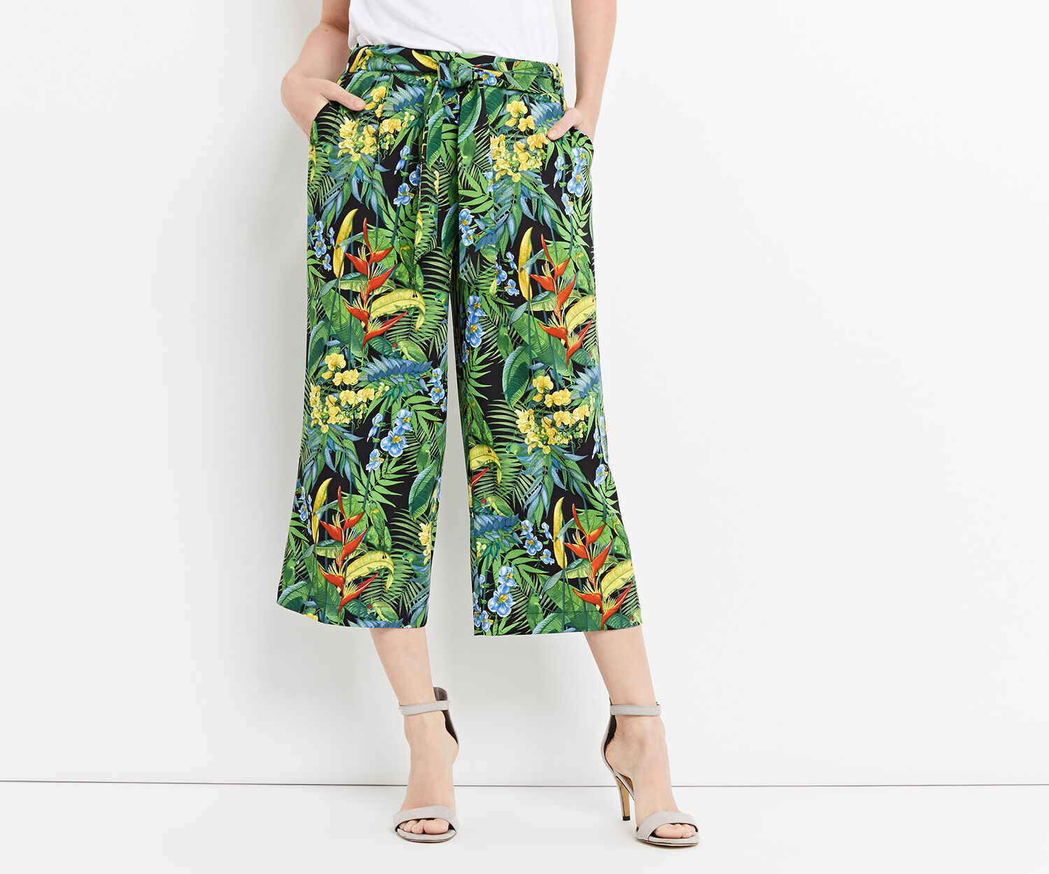 Oasis, TROPICAL CUBA CROP WIDE LEG Multi 1