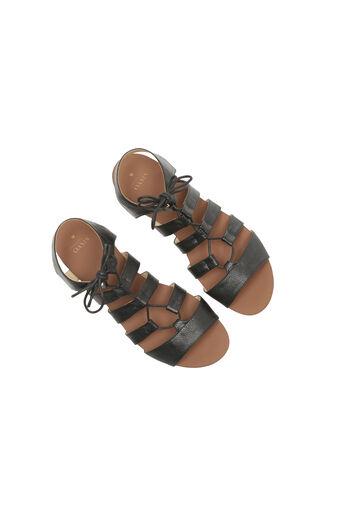Oasis, Gracie Lace Up Sandal Black 2