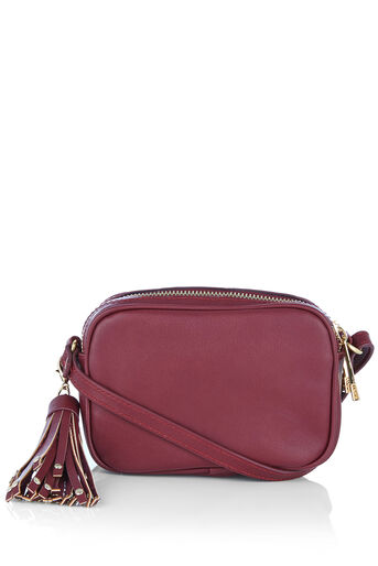 Oasis, WILLOW MINI TASSEL BAG Burgundy 0