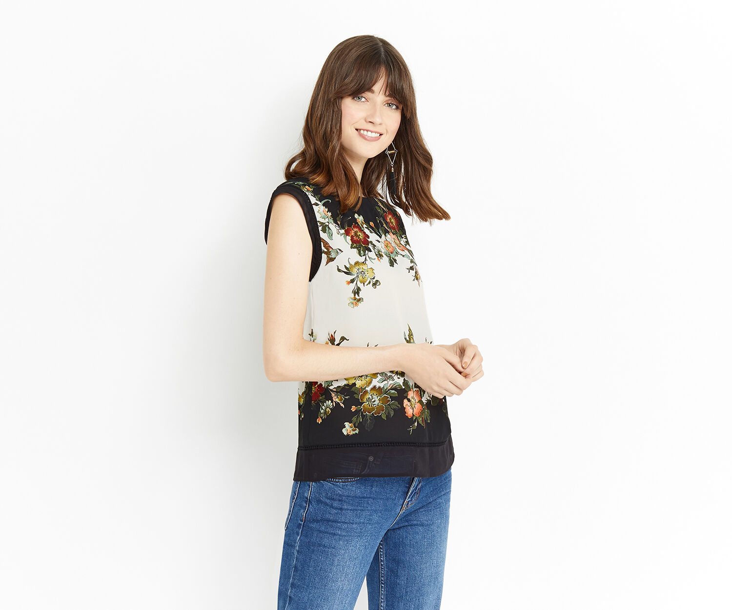 Oasis, ROSSETTI PLACEMENT T SHIRT Multi 1