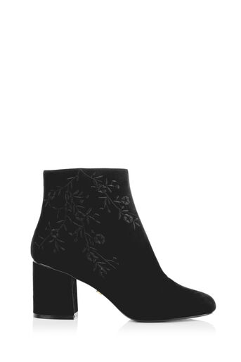 Oasis, EMBROIDERED ANKLE BOOT Black 0