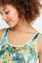 Oasis, Tropical Print Vest Multi Blue 4
