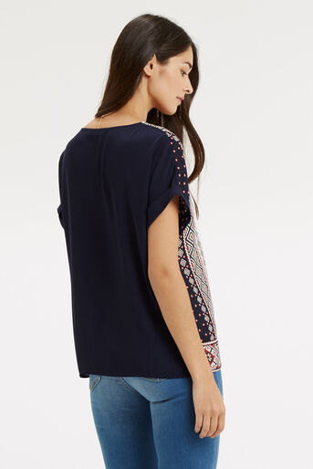 Oasis, Embroidered Mixed T-Shirt Multi 3