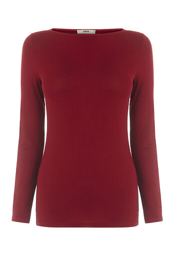 Oasis, ENVELOPE NECK CREW Rich Red 0