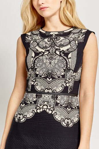Oasis, DECO LACE PRINT DRESS Multi 4