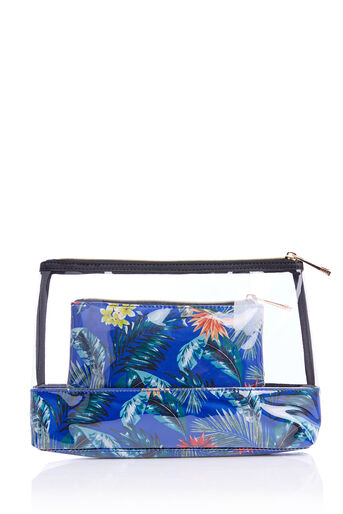 Oasis, TROPICAL WASH BAG Multi Blue 0