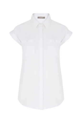 Oasis, Short Sleeve Soft Cotton Shirt White 0