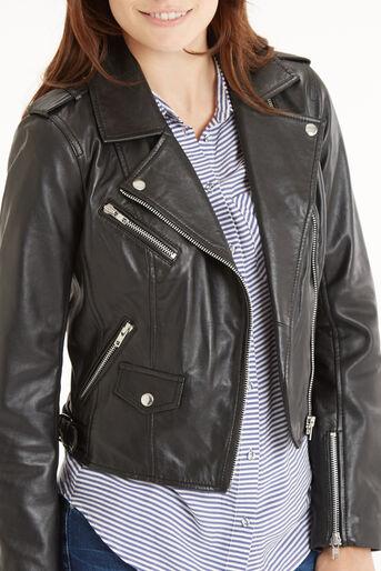 Oasis, The Leather Biker Black 4