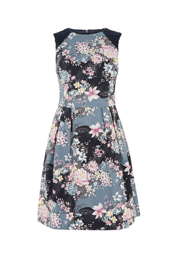 Oasis, LOTUS PRINT SKATER DRESS Multi 0