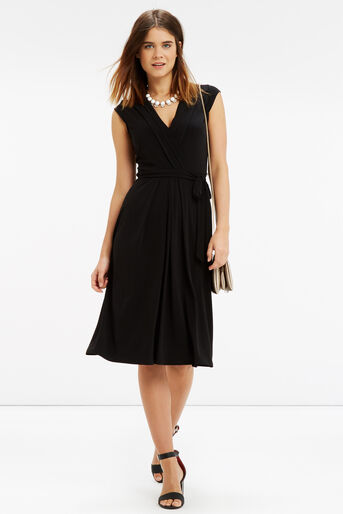Oasis, Wrap Midi Dress Black 2