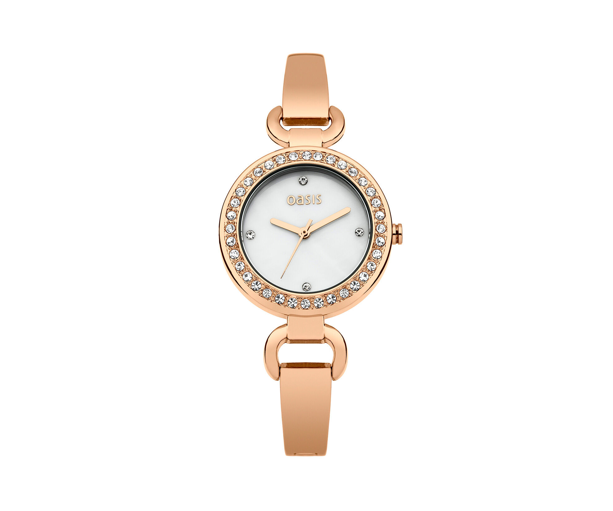 Oasis, Rose Gold Tone Bracelet Watch Antique Gold 0