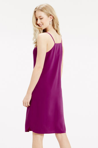 Oasis, Crepe Cami Dress - Longer Leng Mid Purple 3