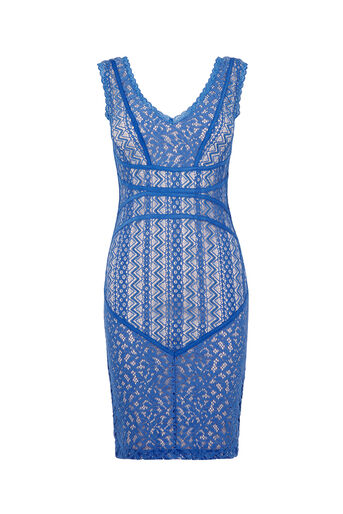 Oasis, Piped Lace Dress Light Blue 0