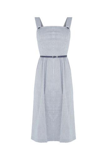 Oasis, Jenna Stripe Midi Dress Multi Blue 0