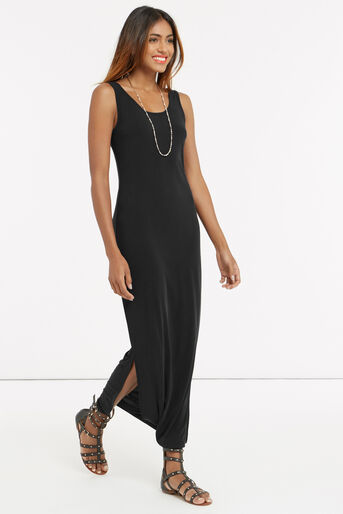 Oasis, SOFT TOUCH MAXI DRESS Mid Grey 2