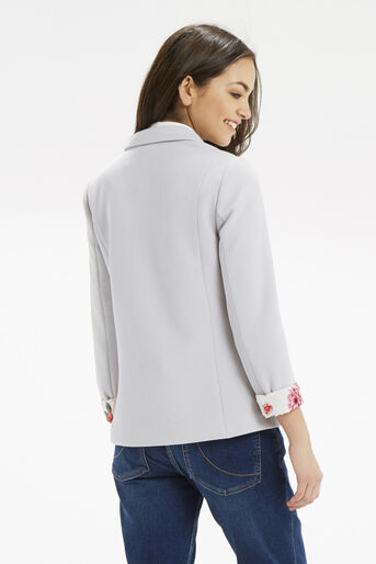 Oasis, Tailored Textured Jacket Pale Grey 3