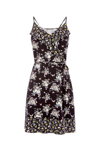 Oasis, DITSY SUNDRESS Multi Black 0