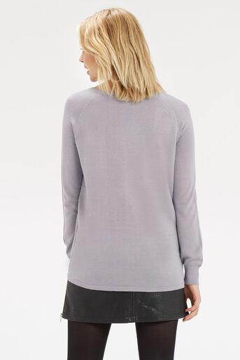 Oasis, Opium Lace Wovenfront Knit Multi Grey 3